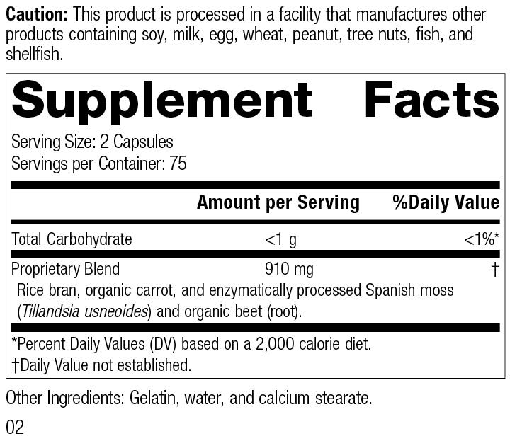 8445 Zymex R02 Supplement Facts
