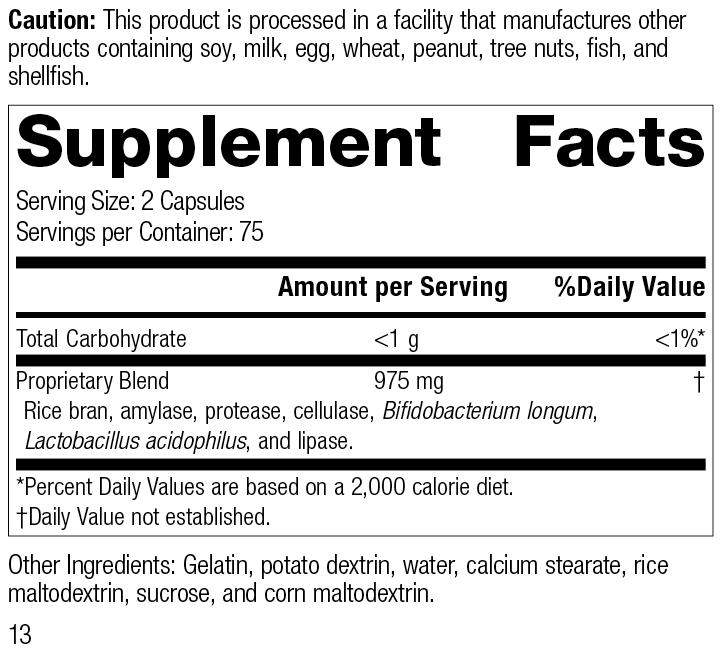 5135 Lact-Enz Rev 13 Supplement Facts
