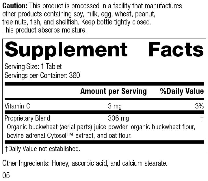 Cyruta® Plus, 360 Tablets, Rev 05 Supplement Facts