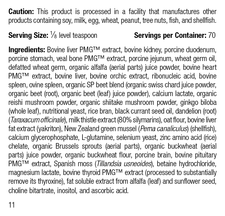 Canine Hepatic Support, 30 g, Rev 10 Supplement Facts
