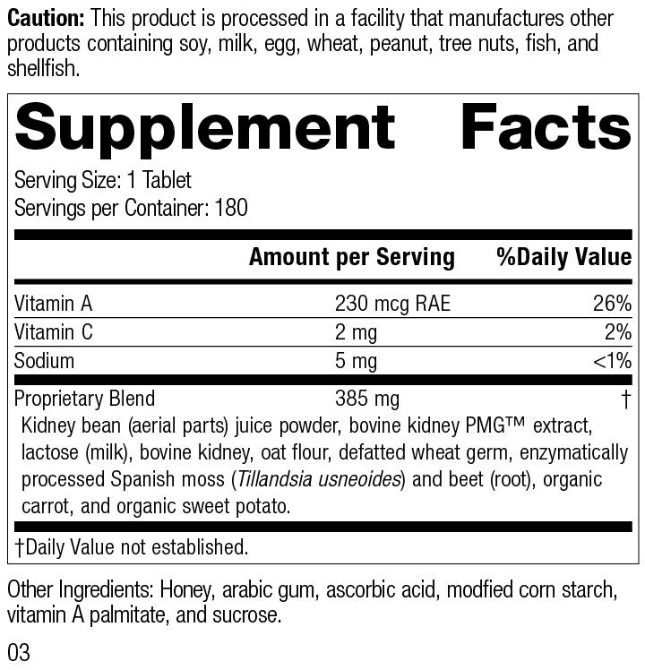 Nutrition Label for Renafood®