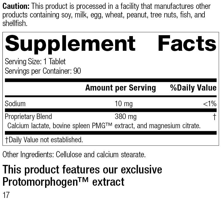 Spleen PMG®, 90 Tablets, Rev 17 Supplement Facts