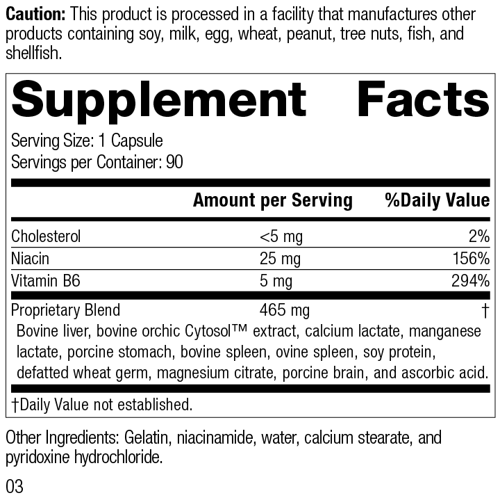 Orchex®, 90 Capsules, Product Label Supplement Facts