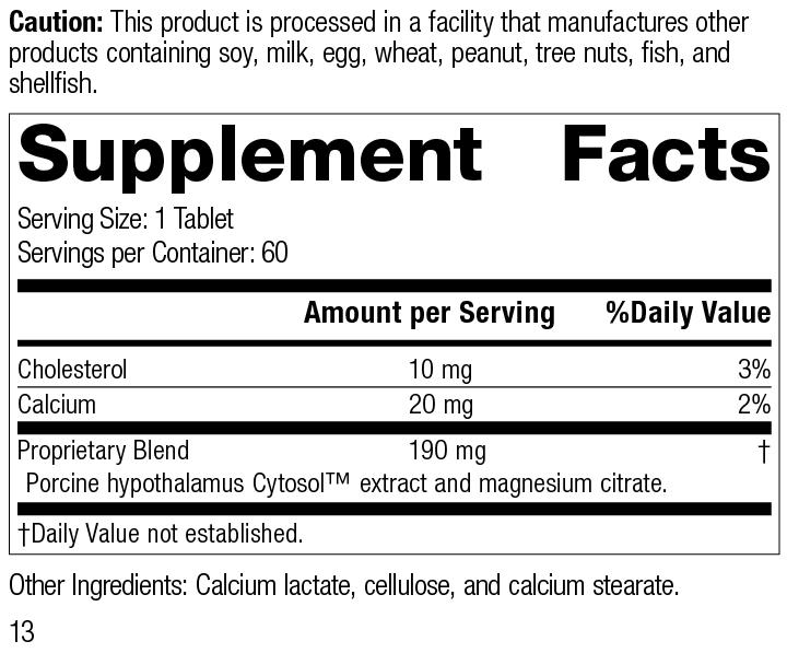 4875 Hypothalmex R13 Supplement Facts