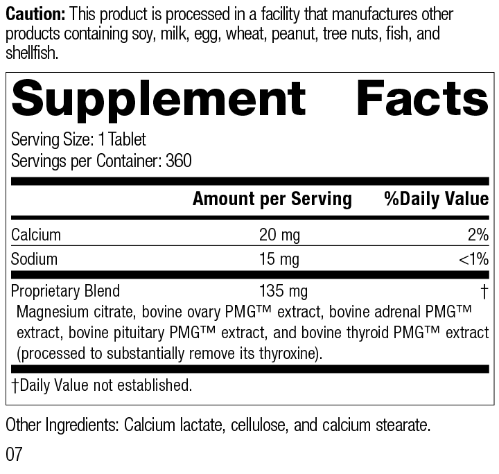 Nutrition Label for Symplex® F