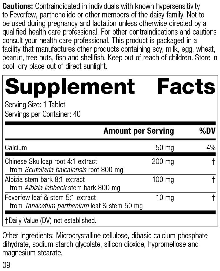 Albizia Complex, 40 Tablets, Rev 09 Supplement Facts