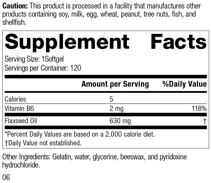 Linum B6 5340-6.0 Supplement Facts