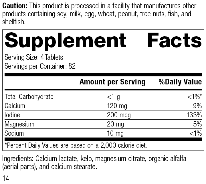 Min-Tran®, 330 Tablets, Rev 14 Supplement Facts
