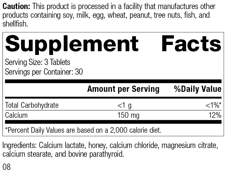 Cal-Ma Plus®, 90 Tablets, Rev 08 Supplement Facts