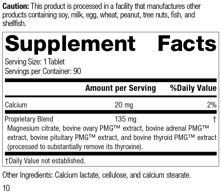 Symplex® F, 90 Tablets, Rev 10 Supplement Facts Supplement Facts