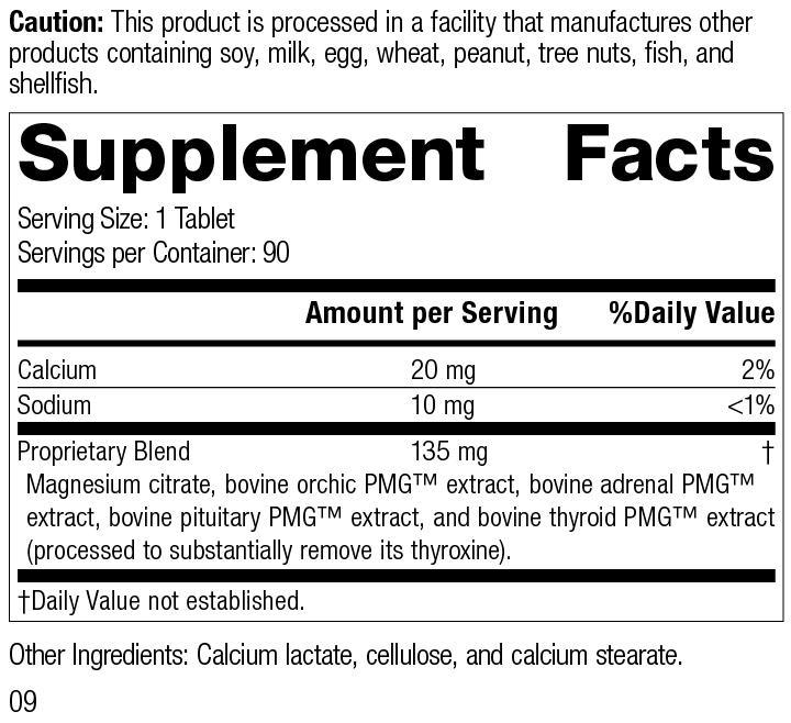 Symplex® M, 90 Tablets, Rev 09 Supplement Facts