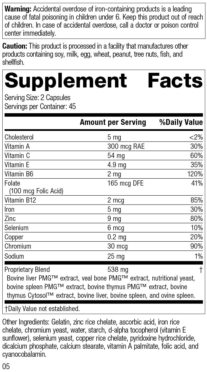 Immuplex®, 90 Capsules, Rev 05 Supplement Facts