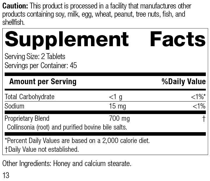 Cholacol®, 90 Tablets, Rev 13 Supplement Facts