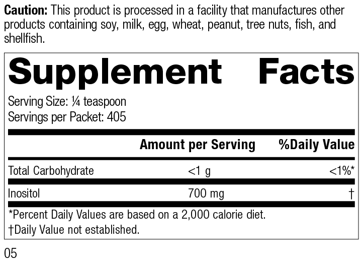 Inositol Powder, Rev 05 Supplement Facts