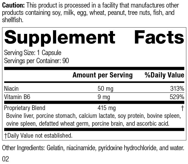 Niacinamide B6, 90 Capsules, Rev 02 Supplement Facts