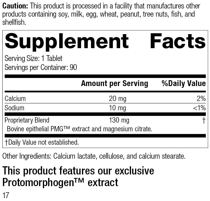 Dermatrophin PMG®, 90 Tablets, Rev 17 Supplement Facts