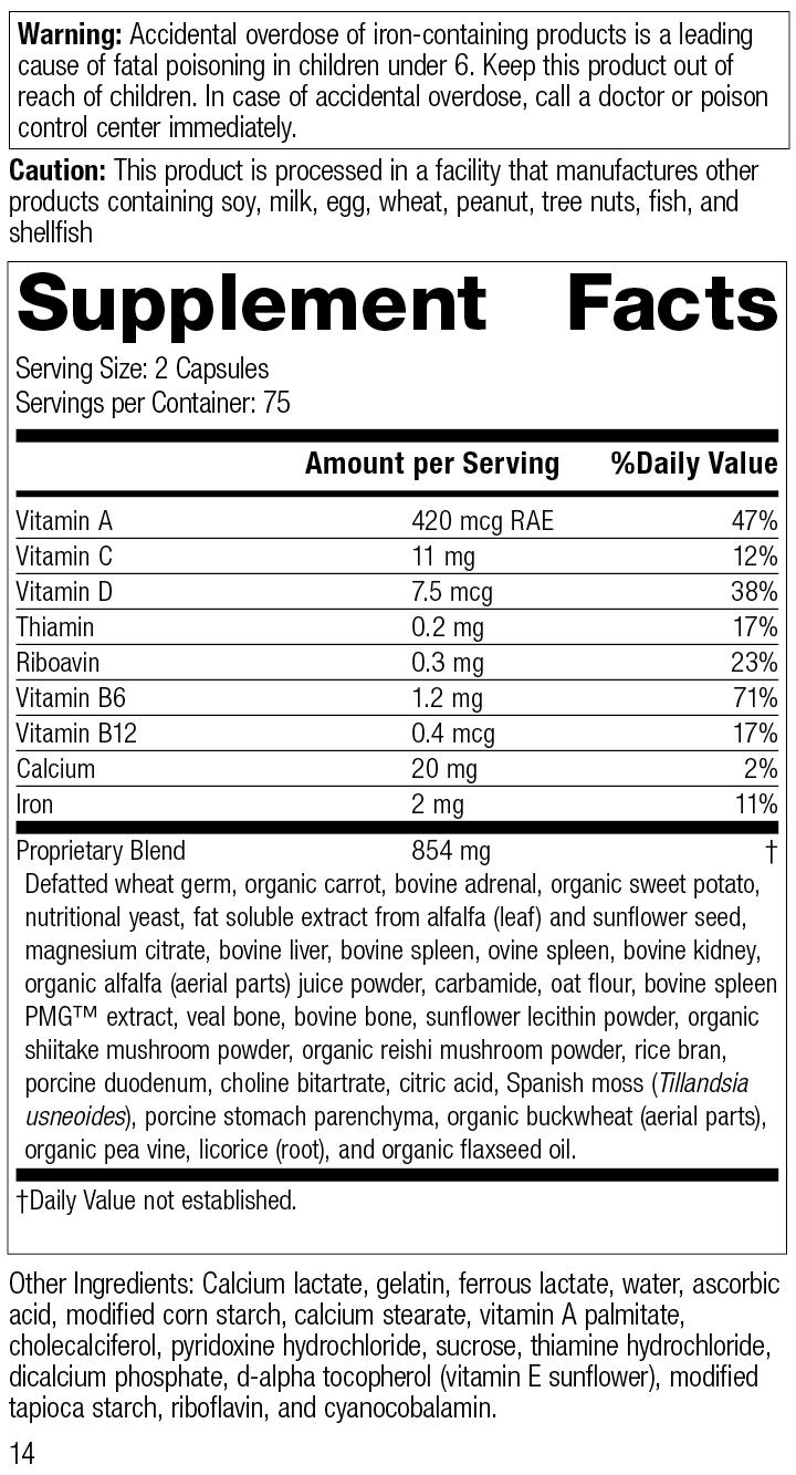 4030 e-Poise R14 Supplement Facts