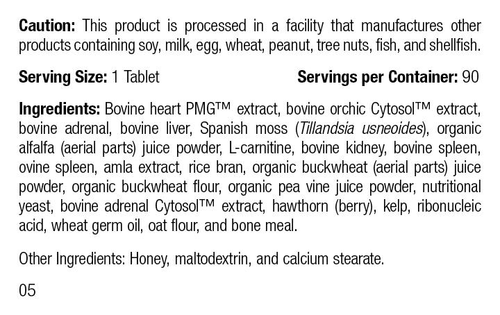 Feline Cardiac Support, 90 Tablets, Rev 05 Supplement Facts