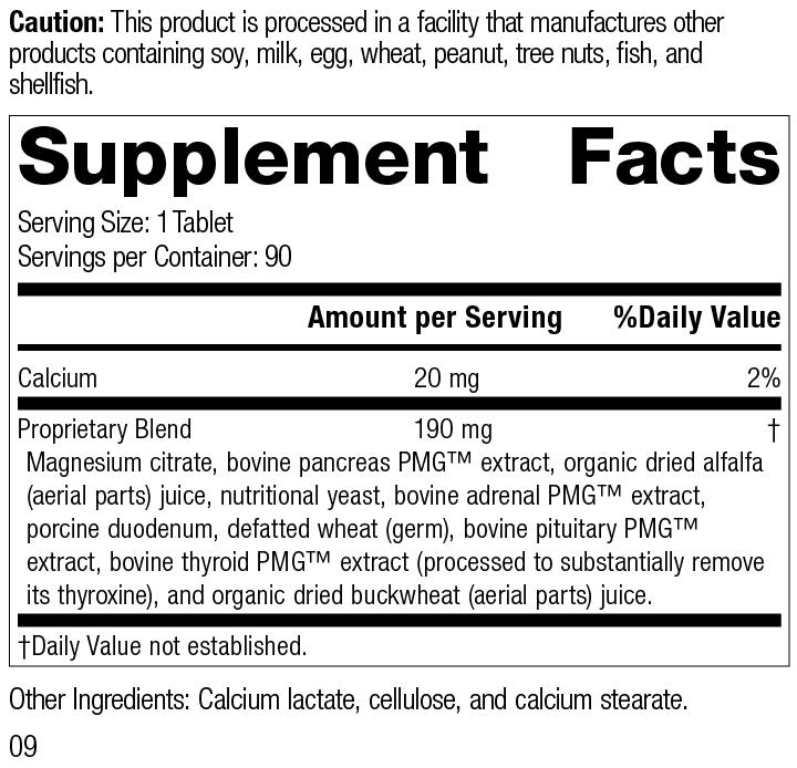 Nutrition Label for Paraplex®