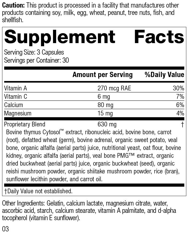 Congaplex®, 90 Capsules, Rev 03 Supplement Facts