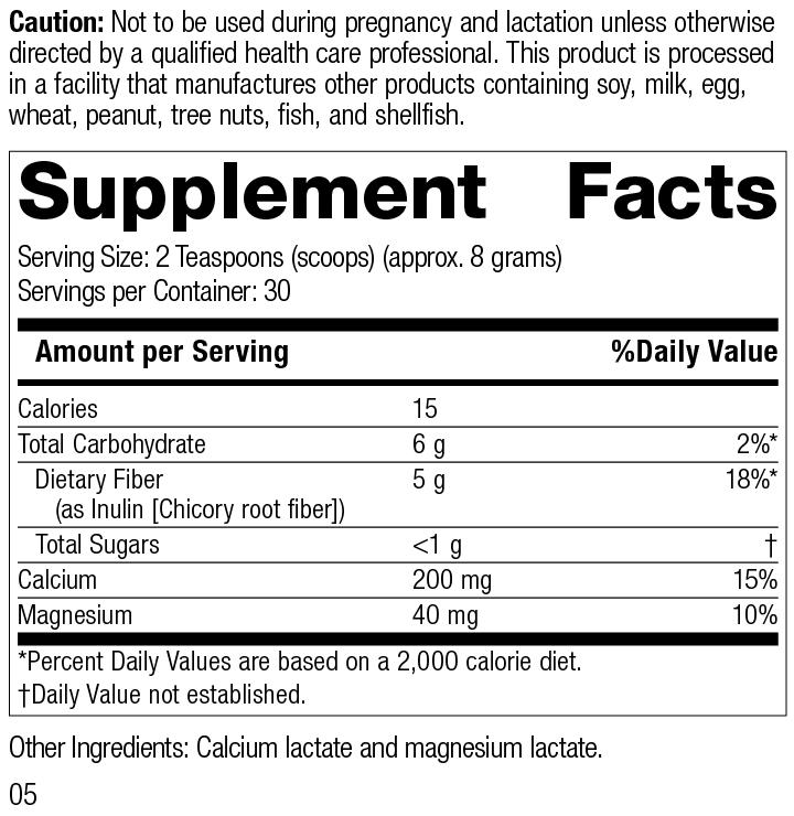 Prebiotic Inulin, Rev 05 Supplement Facts