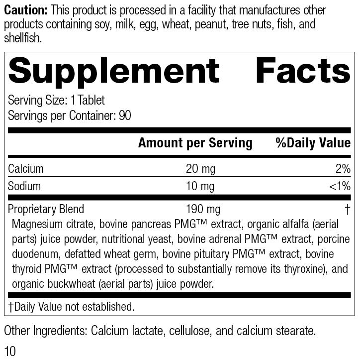 Paraplex®, 90 Tablets, Rev 10 Supplement Facts