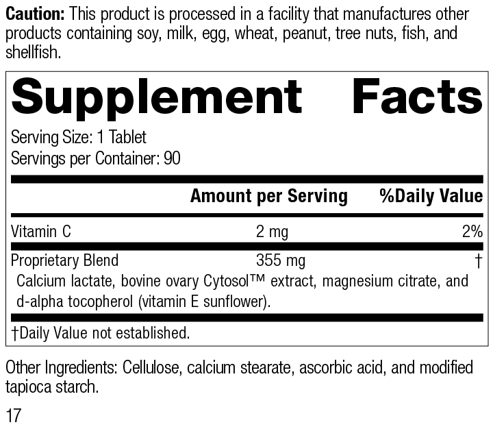 Nutrition Label for Ovex®