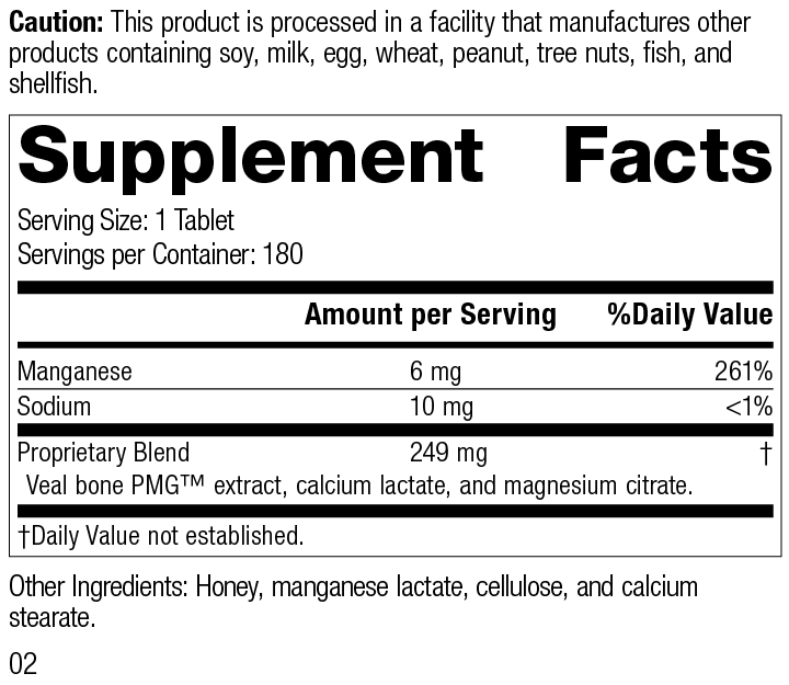 Biost®, 180 Tablets, Rev 02 Supplement Facts