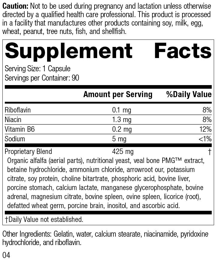 Ostarplex®, 90 Capsules, Rev 04 Supplement Facts