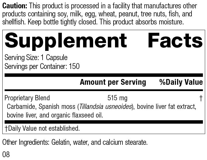 Super-EFF®, 150 Capsules, Rev 08 Supplement Facts