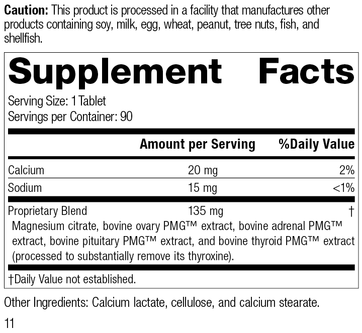 Symplex® F, 90 Tablets, Rev 11 Supplement Facts