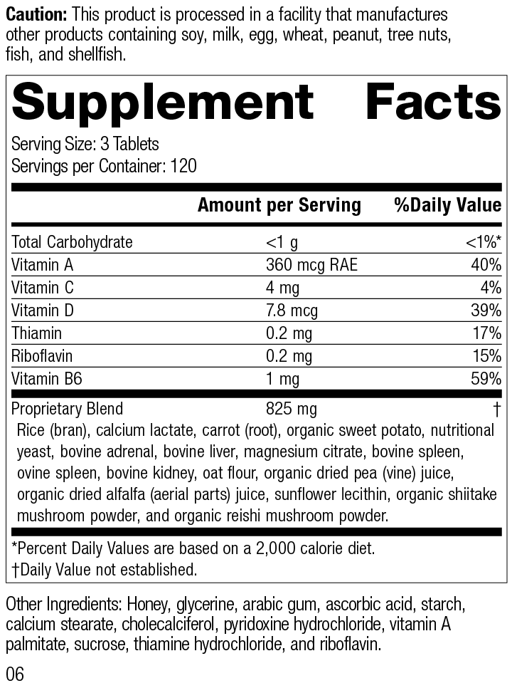 Nutrition Label for Catalyn® GF