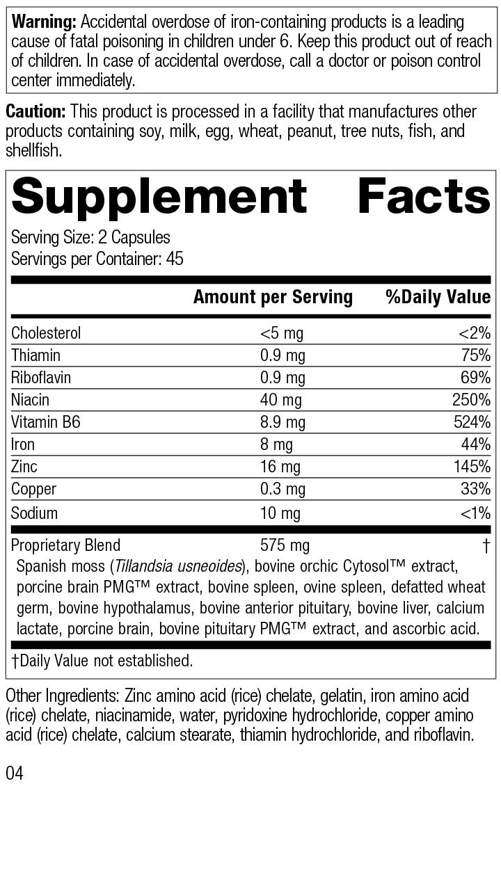 Nutrition Label for Neuroplex®