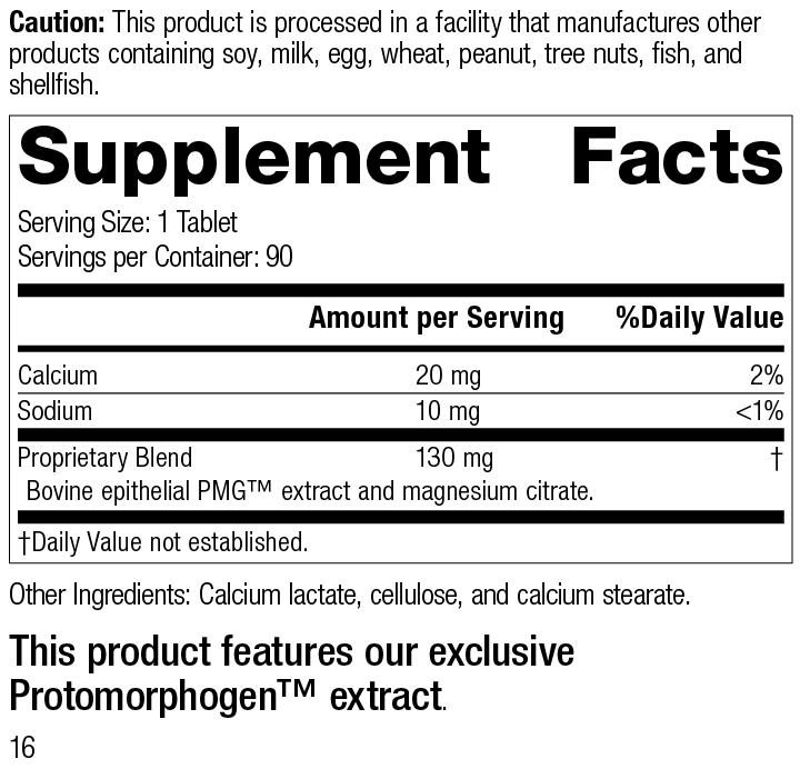 Dermatrophin PMG®, 90 Tablets, Rev 16 Supplement Facts