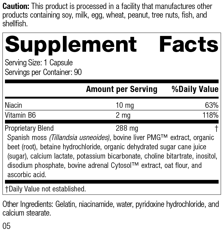 Nutrition Label for Betacol®