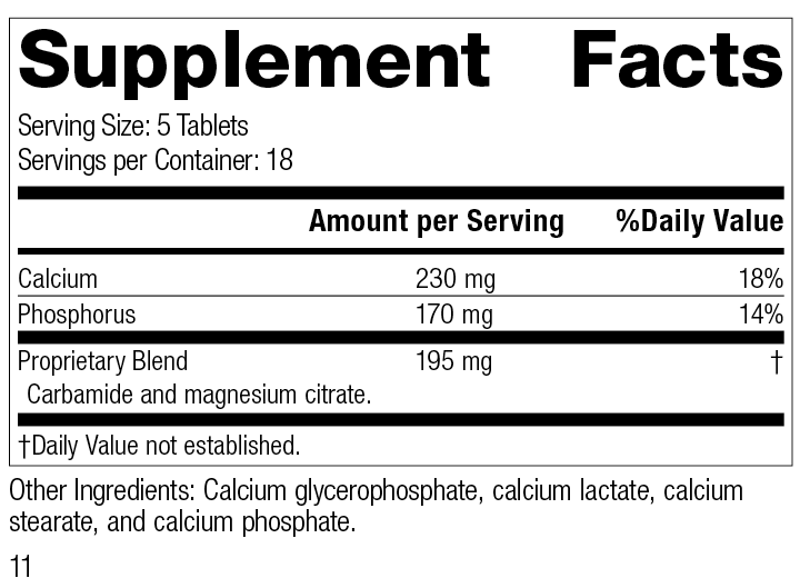 Calsol®, 90 Tablets, Rev 11 Supplement Facts