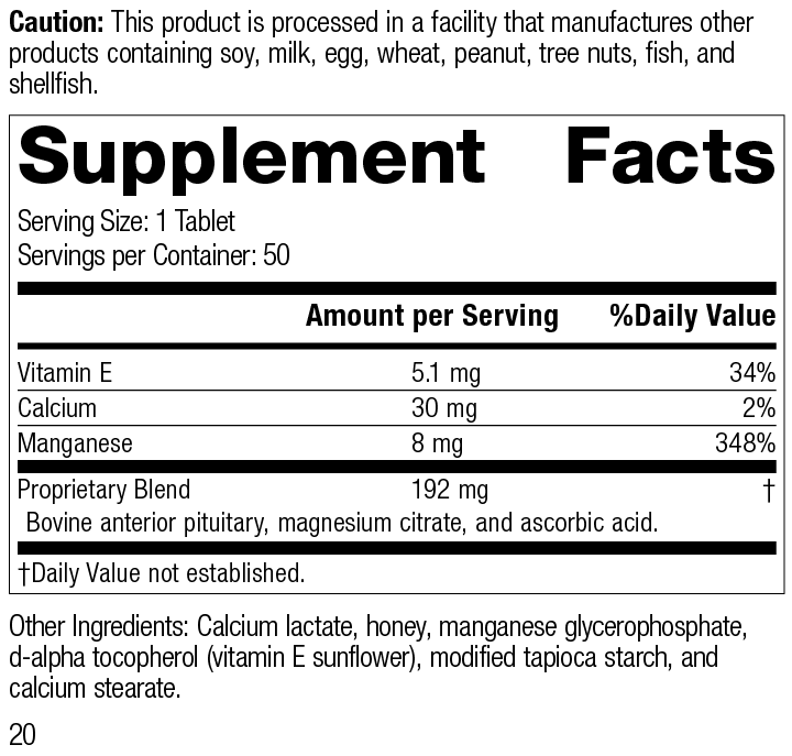 E-Manganese 3925-20.0 Supplement Facts