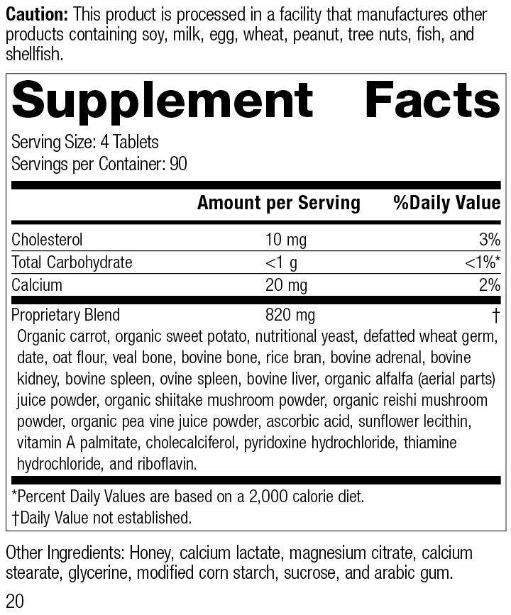 Cyrofood®, 360 Tablets, Rev 20 Supplement Facts