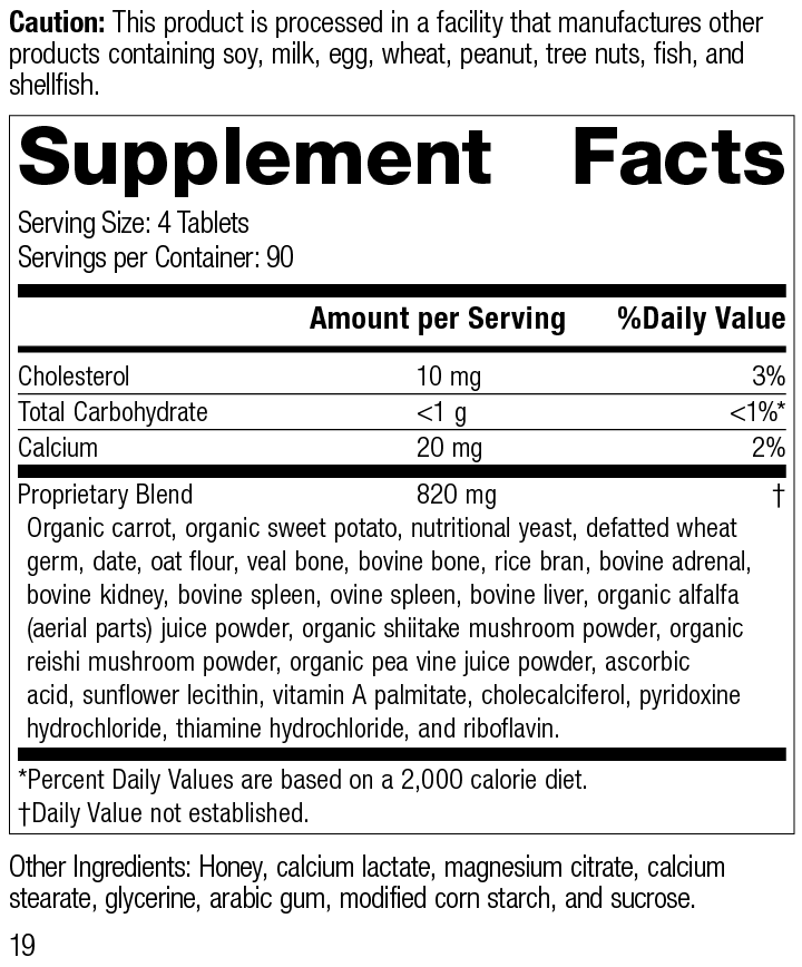 Cyrofood®, 360 Tablets, Rev 19 Supplement Facts