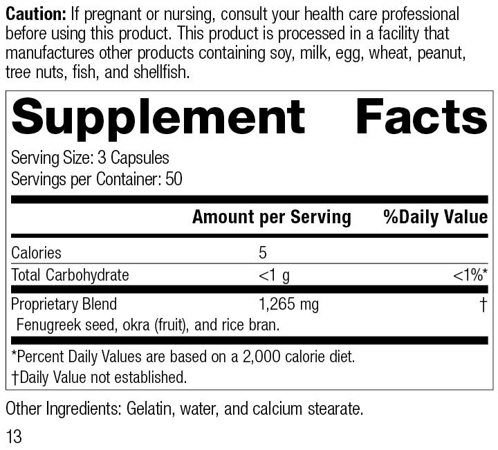Fen-Gre®, 150 Capsules, Rev 13 Supplement Facts