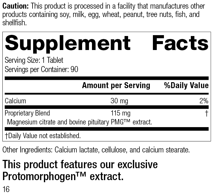 Pituitrophin PMG®, 90 Tablets, Rev 15 Supplement Facts
