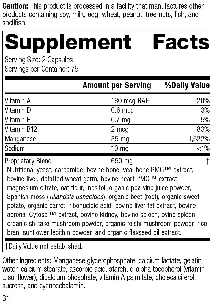Nutrition Label for Ligaplex® II