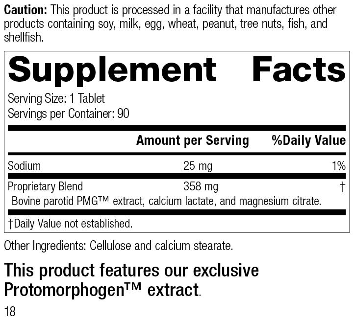 Parotid PMG®, 90 Tablets, Rev 17 Supplement Facts