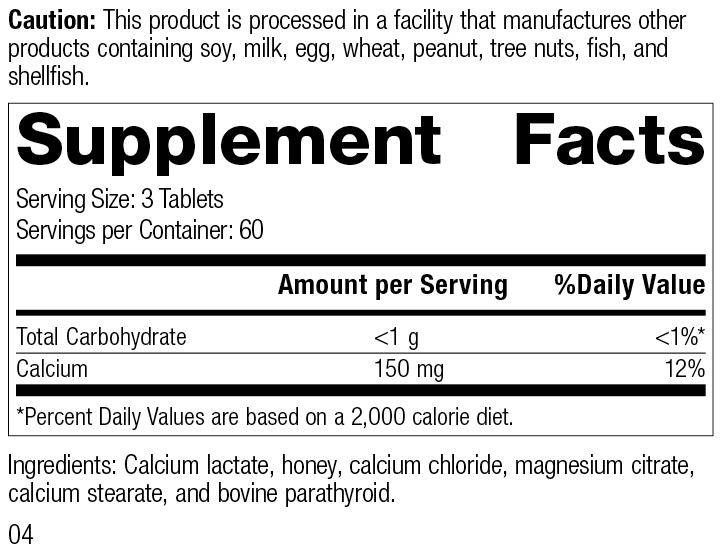 Cal-Ma Plus®, 180 Tablets, Rev 03 Supplement Facts