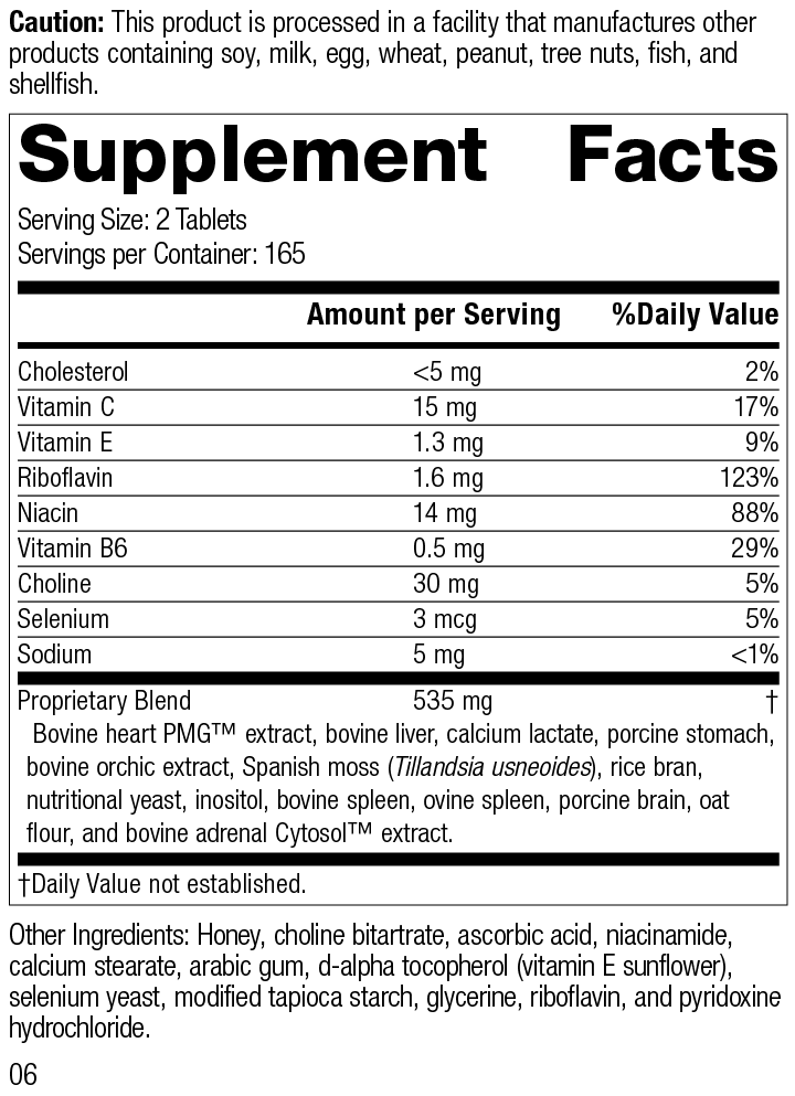 Cardio-Plus® GF, Rev 06 Supplement Facts