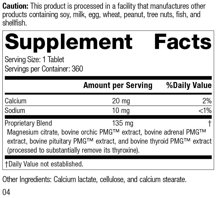 Nutrition Label for Symplex® M