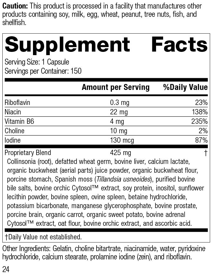 Cholaplex®, 150 Capsules, Rev 24 Supplement Facts