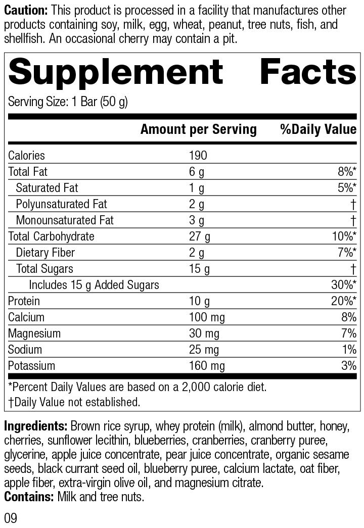 StandardBar®-Berry, Rev 09 Supplement Facts