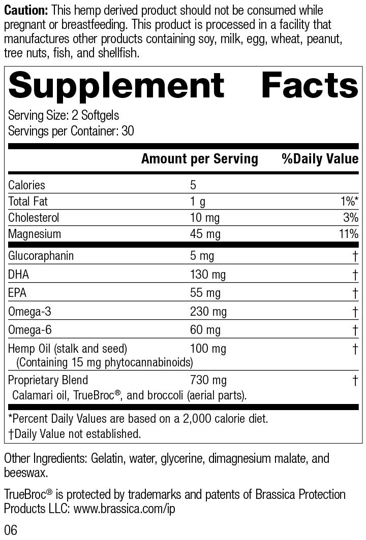 Hemp Oil Complex™, 60 Softgels, Rev 06 Supplement Facts