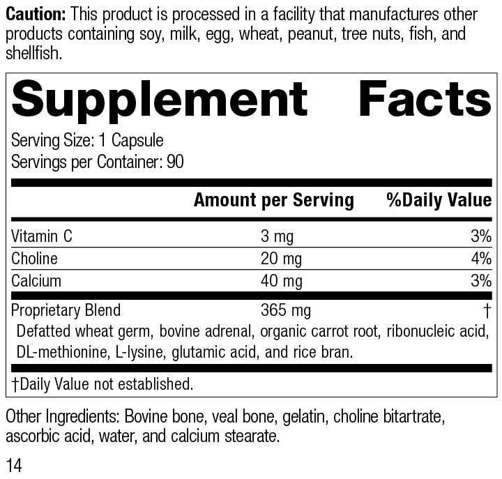 Nutrition Label for Protefood®
